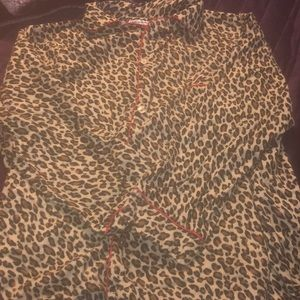 Cheetah print night gown two piece